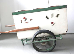 Once he was done being a glass cutter, Giuseppe Guarino used this ice cream cart to sell homemade ice cream at the fair in Grafenau.