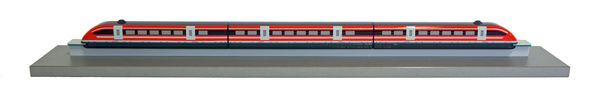 A model of the Transrapid, which was not built in Bavaria.